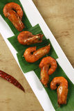 Masala Fried Prawns a snack from Goa, India Stock Photography