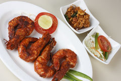 Masala Fried Prawns a snack from Goa, India Royalty Free Stock Images