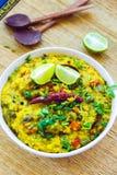 Masala Khichdi - plat national indien de riz Images libres de droits