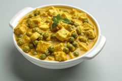 Masala Matar paneer - μια ινδική κουζίνα Στοκ εικόνες με δικαίωμα ελεύθερης χρήσης