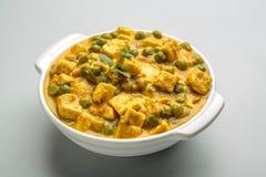 Masala Matar paneer - μια ινδική κουζίνα Στοκ φωτογραφίες με δικαίωμα ελεύθερης χρήσης
