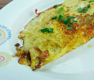 Masala Omelette Royalty Free Stock Photography