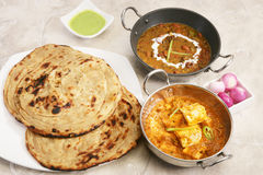 Masala Paneer con Dal Makhani Immagine Stock