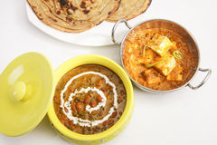 Masala Paneer with Dal Makhani Stock Images