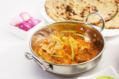 Masala Paneer with paratha Stock Photo