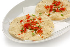 Masala papad , indian food Stock Photo