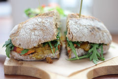 Masala sandwich. Royalty Free Stock Images