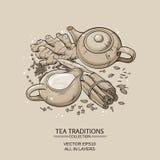 Masala Tea Royaltyfri Fotografi