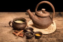 Masala tea with spices Stock Images