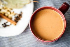 Masala tea with spices on the table Royalty Free Stock Images