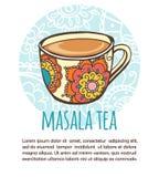 Masala tea vector card template Stock Photo