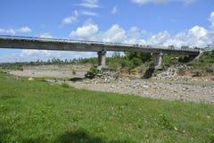 Masalang most Lokalizować przy Lapulabao, Hagonoy, Davao Del Sura, Filipiny obraz stock