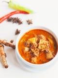 Masaman curry. Thai food ,masaman curry on dish Stock Photo