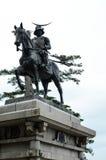 Masamune Date-` s Skulptur in Sendai Stockfoto