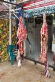 Masarka sklep z świeżym surowym mięsem Fotografia Stock