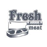 Masarka sklepu etykietka mięso organicznie również zwrócić corel ilustracji wektora Obraz Stock