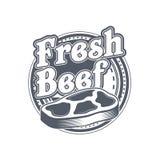 Masarka sklepu etykietka mięso organicznie również zwrócić corel ilustracji wektora Zdjęcie Royalty Free