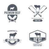 Masarka sklepu etykietka mięso organicznie również zwrócić corel ilustracji wektora Zdjęcia Royalty Free