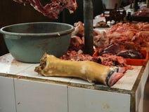 Masarka sprzedaje różnorodną miłą część brać w Dżakarta Indonezja mięsna fotografia Zdjęcie Stock