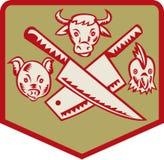 masarki kurczaka krowy noża świnia ilustracji
