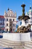 Masaryk square, Decin town, Czech republic Stock Photos