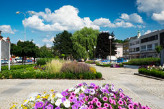 Masaryk Square in Letovice, Czech Republic Royalty Free Stock Photo