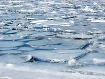 Masas de hielo flotante de hielo del lago toronto 2018 fotografía de archivo libre de regalías