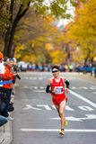 Masato Imai (Japan) stelt de 2013 NYC Marathon in werking Stock Fotografie