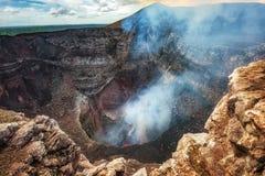 Masaya Volcano National Park em Nicarágua imagem de stock