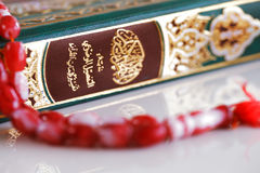 The Masbaha, also known as Tasbih with the Quaran Royalty Free Stock Photo