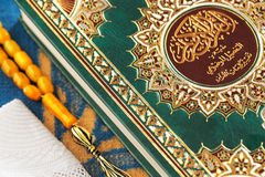 The Masbaha, also known as Tasbih with the Quran Stock Image
