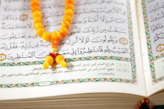 The Masbaha, also known as Tasbih with the Quran Stock Photo