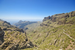 Masca canyon in Tenerife, Canary islands, Spain. Royalty Free Stock Image