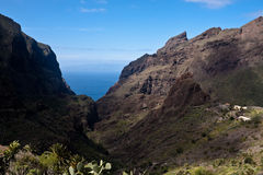 Masca Cliifs and canyon Tenerife Stock Photography