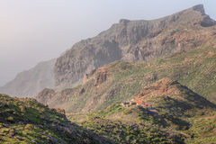 Masca i Macizo de Teno Berg på Tenerife Royaltyfri Fotografi