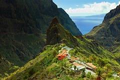 Masca by i Tenerife Arkivfoton