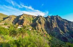 Masca, pueblo de la mucha altitud en Tenerife Fotografía de archivo