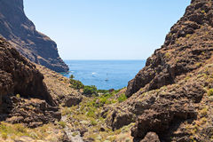 Masca. View at Masca gorge in Tenerife Royalty Free Stock Photo