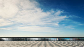 Mascagni terrace in front of the sea. Stock Image
