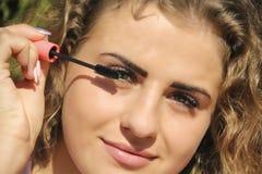 mascara κοριτσιών eyelashes πορτρέτο Στοκ φωτογραφίες με δικαίωμα ελεύθερης χρήσης