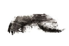 Mascara σύνθεσης καλλυντικό σχέδιο σύστασης κτυπήματος βουρτσών στο λευκό στοκ εικόνες