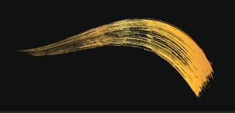 Mascara σύνθεσης καλλυντικό χρυσό κτύπημα βουρτσών στο λευκό Διανυσματική mascara χρυσή κηλίδα ελεύθερη απεικόνιση δικαιώματος