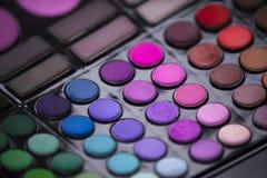 Mascara χρωμάτων Makeup σκιές Στοκ εικόνες με δικαίωμα ελεύθερης χρήσης