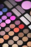 Mascara χρωμάτων Makeup σκιές Στοκ εικόνα με δικαίωμα ελεύθερης χρήσης