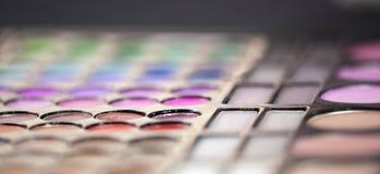Mascara χρωμάτων Makeup σκιές Στοκ φωτογραφία με δικαίωμα ελεύθερης χρήσης