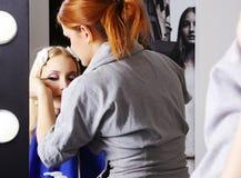 mascara состава ресниц художника один s стоковое фото