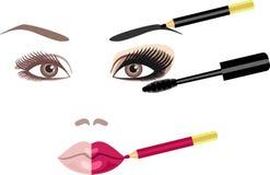 mascara vektor illustrationer