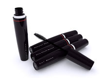 Mascara. Black mascara series. Volume end long lash Royalty Free Stock Images