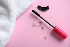 Free Mascara And False Eyelashes Royalty Free Stock Image - 110100146