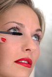 Mascara application Stock Photo